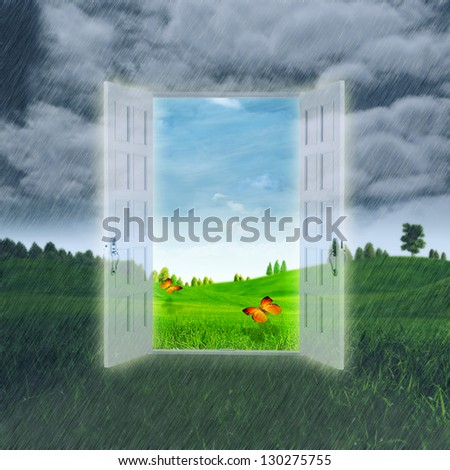 Open Your Summer. Abstract optimistic backgrounds - stock photo