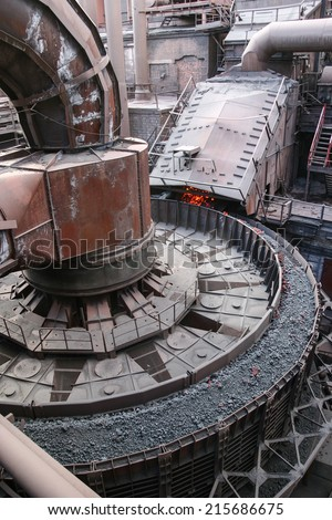 opencast mine excavation - stock photo