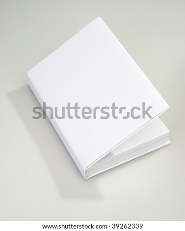 Opened Blank book cover white - stock photo