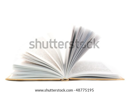 Opened book. Element of design. - stock photo