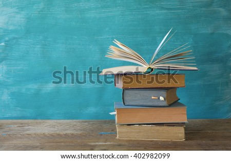 opened book, free copy space - stock photo