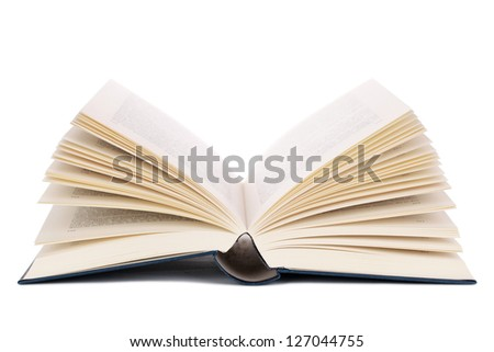 Opened book, isolated on a white background