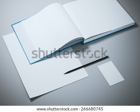 Opened book mockup template - stock photo