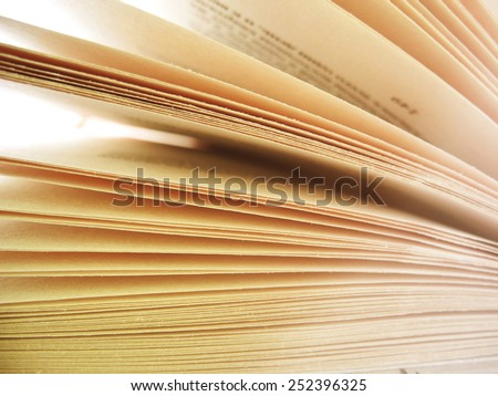 Opened book, soft focus - stock photo