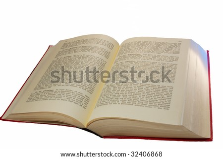 Opened book with old-German script. - stock photo