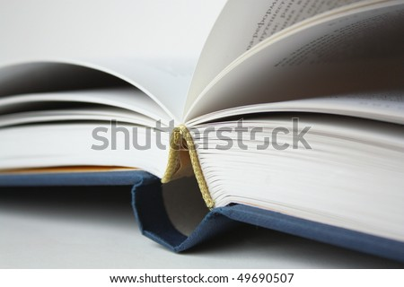Opened book with white pages - stock photo