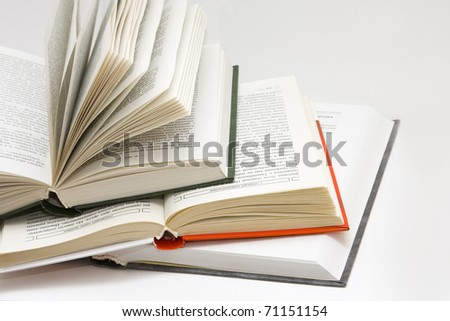 opened books - stock photo