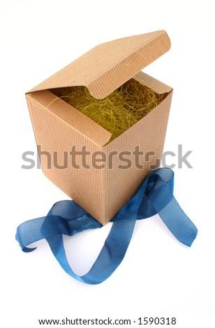 Opened box - stock photo