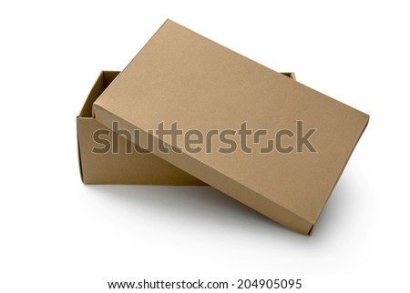 Opened brown box for shoes