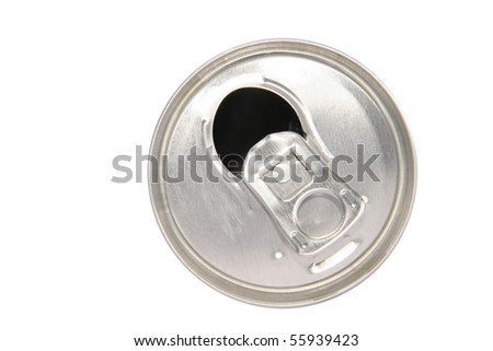 opened can - stock photo