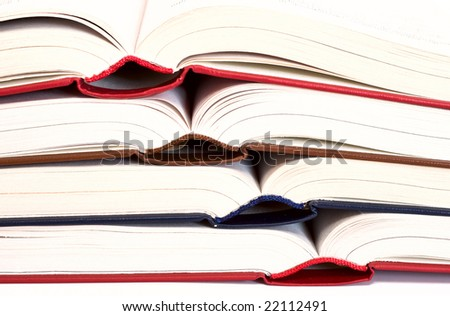 opened colored book. - stock photo