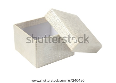 Opened empty gift box on a white background - stock photo