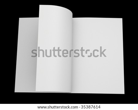 opened exercise book - stock photo
