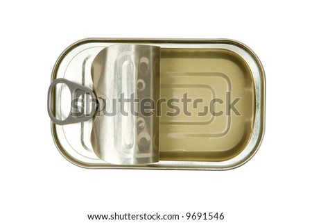 Opened Fish Can - stock photo