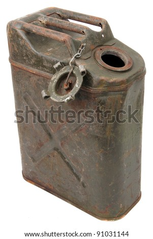 opened jerrycan - stock photo