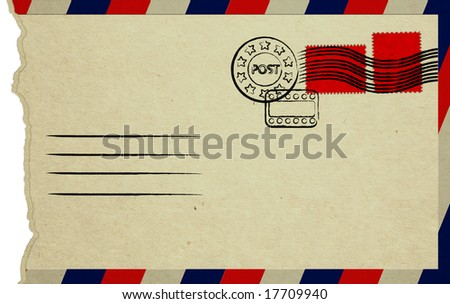 Opened Letter With Red Stamps - stock photo