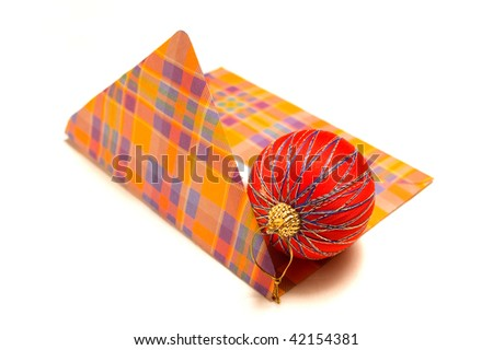 Opened mail with Christmas decoration - stock photo