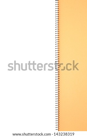 Opened note book - stock photo