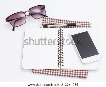Opened Notebook - stock photo