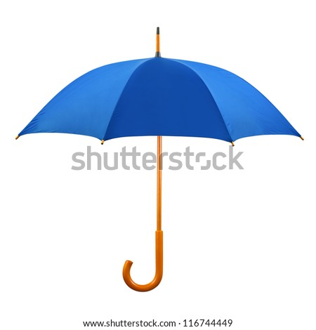 Opened umbrella isolated on white background - stock photo