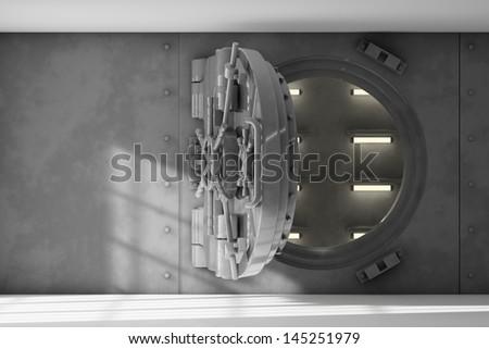 Opened vault - stock photo
