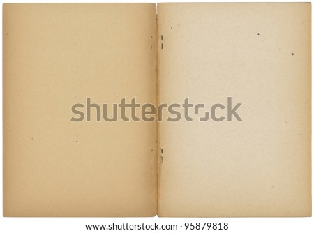 opened vintage note book - stock photo