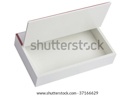 opened white box isolated - stock photo