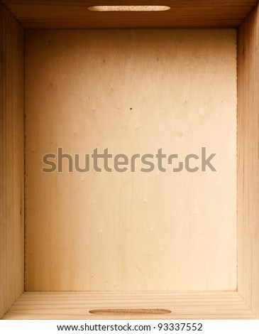 opened wooden box - stock photo