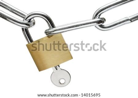 Opening the Lock - stock photo