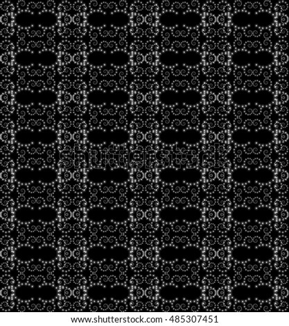 openwork lace seamless  pattern on  black background