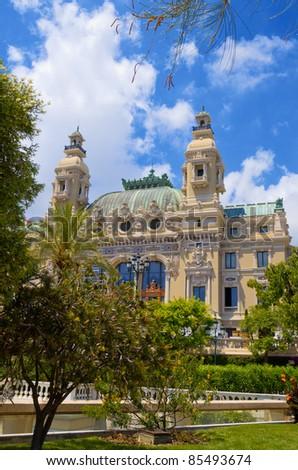 Opera de Monte Carlo-Salle Garnier. Monaco - stock photo