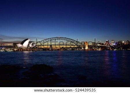 opera house after sunset
