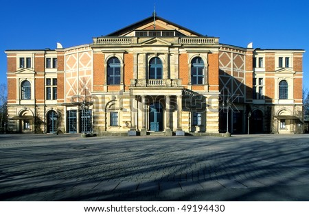 Opera-house Bayreuth, Germany - stock photo