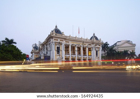 Opera House in Hanoi, Vietnam - stock photo