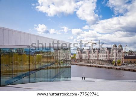 Opera House In Oslo Norway - stock photo