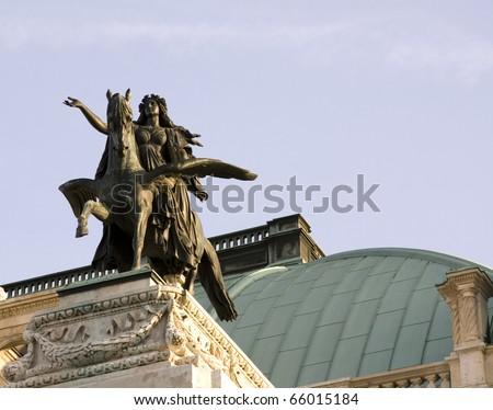 Opera House in Vienna. - stock photo