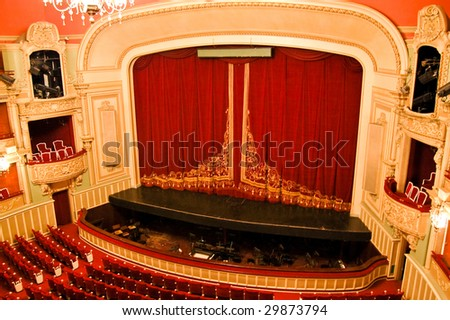 Opera House Interior - Stage and Seating - stock photo