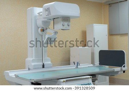 Operating for angiographic studies. - stock photo