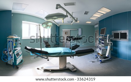 Operating room in a hospital - stock photo