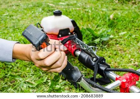 operation grass cutter  - stock photo