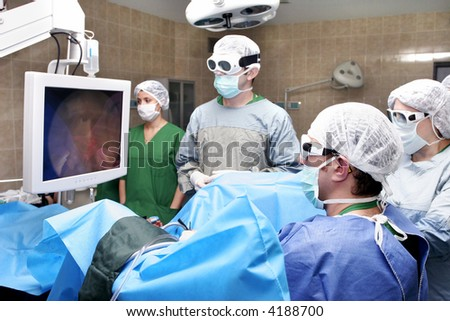 operation in hospital - stock photo