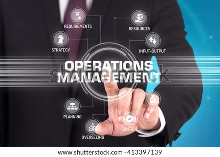 OPERATIONS MANAGEMENT TECHNOLOGY COMMUNICATION TOUCHSCREEN FUTURISTIC CONCEPT
