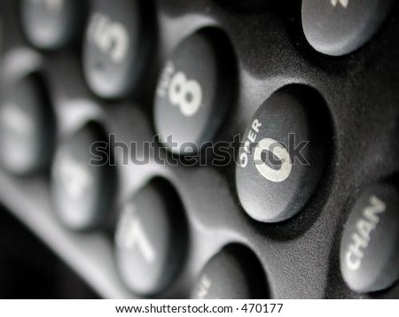 Operator button of phone pad - stock photo
