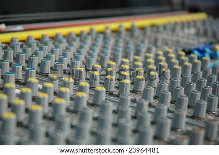 Operator's console of a sound recording.