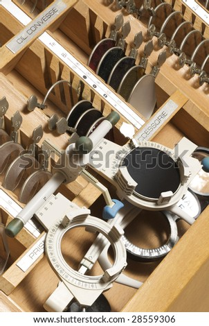 ophtalmological equipment - stock photo