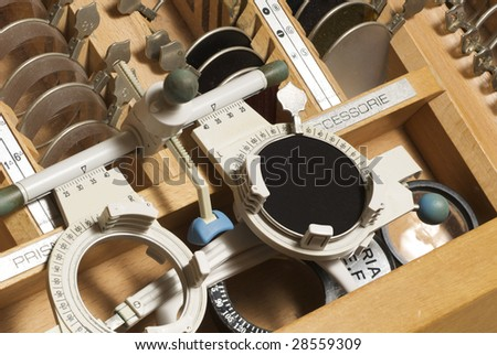 ophtalmological equipment - stock photo