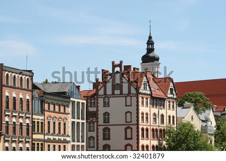 opole city in summer time, poland
