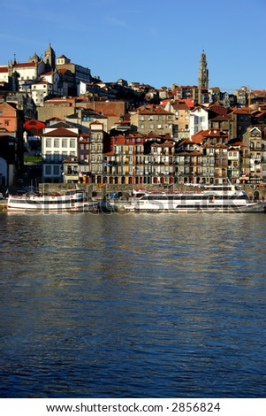 oporto old town in the north of portugal
