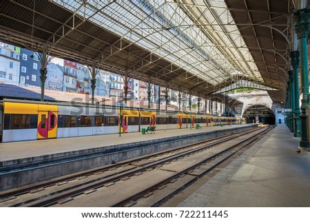Oporto, Portugal - july 2016: Railway Train Station Sao Bento, Porto, Portugal