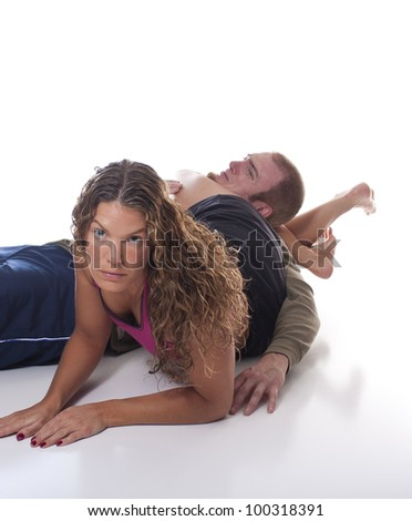 Opponent Immobilzed - stock photo